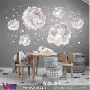 Viart.pt - Peonies! Unique beauty! Flowers Wall Sticker - Wall Decal - 2