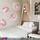 Viart.pt - Peónias! Beleza única! Flores em Vinil Decorativo Parede. Decoração em Vinil Adesivo - 8 rosa