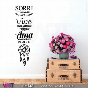 Sorri... Vive... Ama... Vinil Decorativo Parede!