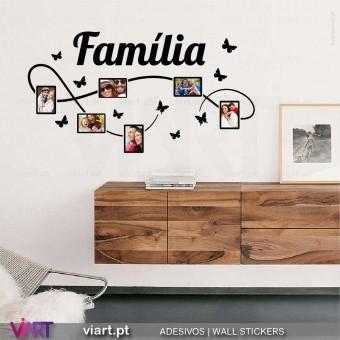 Fotografias da Família.. Vinil Decorativo Parede! Autocolante para parede - Viart.pt - 1
