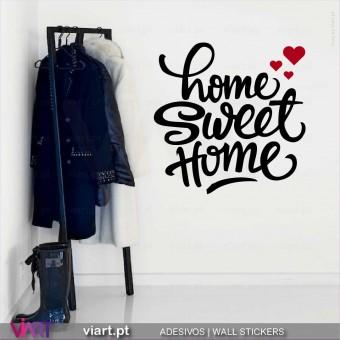 Home Sweet Home - Vinil Decorativo Parede! Autocolante Adesivo. Vinis Decorativos - Viart.pt - 1