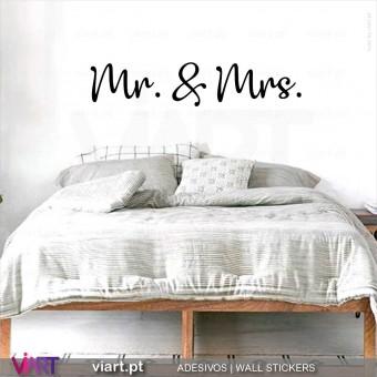 Mr. & Mrs. | Mrs. & Mr. | Mr. e Mrs....  - Vinil Decorativo Parede! Autocolante Adesivo. Vinis Decorativos - Viart.pt - 6