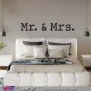 Mr. & Mrs. | Mrs. & Mr. | Mr. e Mrs....  - Vinil Decorativo Parede! Autocolante Adesivo. Vinis Decorativos - Viart.pt - 5