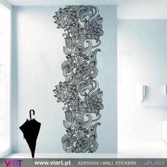Coluna floral - Vinil Autocolante para Decoração - Viart -1