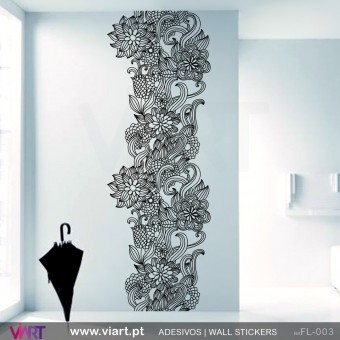 Floral Column - Wall stickers - Vinyl decoration - Viart -1