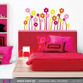 22 flores coloridas - Vinil Autocolante para Decoração - Viart -1