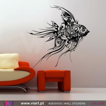 Floral Fish - Wall stickers - Vinyl decoration - Viart -1