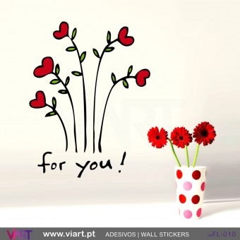 FOR YOU! Flower bouquet - Wall stickers - Vinyl decoration - Viart -1