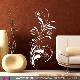 Floral 1 - Wall stickers - Vinyl decoration - Viart -1