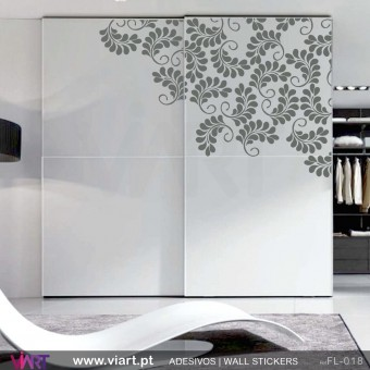 Corner Floral!  Wall sticker.