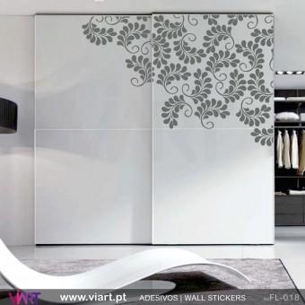 Floral de canto! - Vinil Adesivo para Decoração - Viart -1
