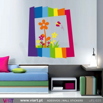 Colourful frame!  - Wall stickers - Vinyl decoration - Viart -1