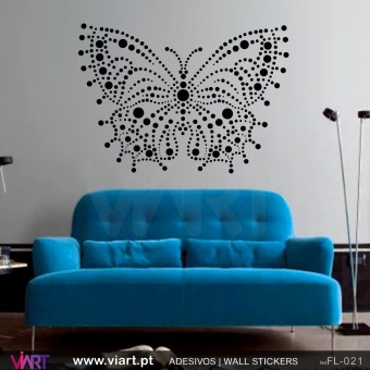 Dotted Butterfly!! Wall sticker!