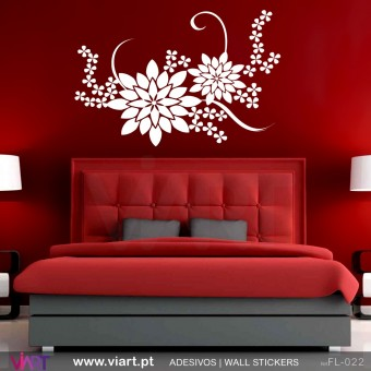 FFloral! Beautiful - Wall stickers - Vinyl decoration - Viart -1