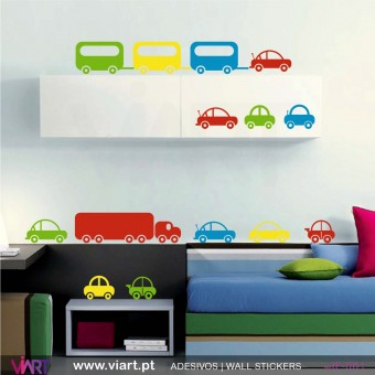 Set of 10 cars… - Wall stickers - Vinyl decoration - Viart -1