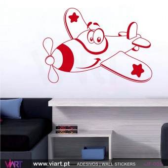 Funny plane! - Wall stickers - Vinyl decoration - Viart -1