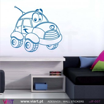 Funny car! Wall sticker!
