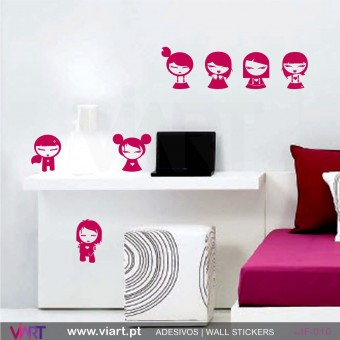 Set of 7 kids! - Wall stickers - Vinyl decoration - Viart -1