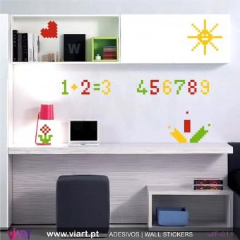 1, 2, 3… escola! - Vinil Adesivo para Decoração - Viart -1