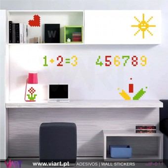 1, 2, 3 ... school! - Wall stickers - Vinyl decoration - Viart -1