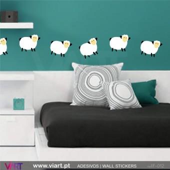 Ovelhinhas saltitantes! - Vinil Adesivo para Decoração - Viart -1
