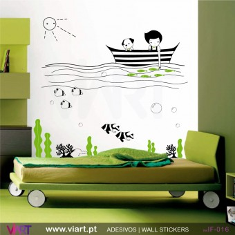 BOY AT SEA! - Wall stickers - Vinyl decoration - Viart -1