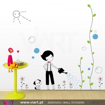 BOY IN THE GARDEN! - Wall stickers - Vinyl decoration - Viart -1