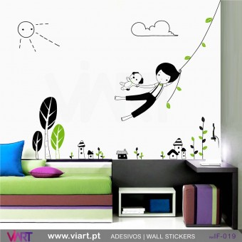 BOY IN THE JUNGLE - Wall stickers - Baby room - Viart -1