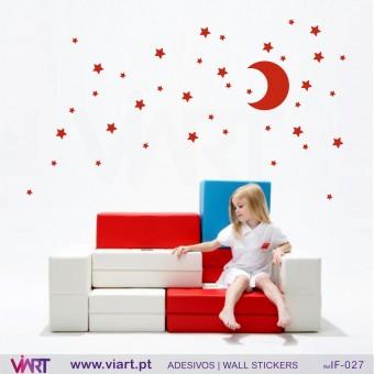 CONJUNTO CÉU ESTRELADO:) Adesivo para Decoração Infantil