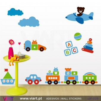 Hyper, mega fun set! - Wall stickers - Baby room - Viart -1