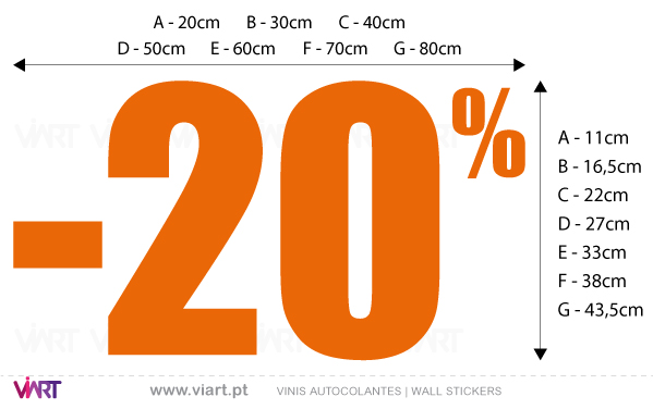 Viart Wall Stickers - Window Dressing - PERCENTAGE - measures