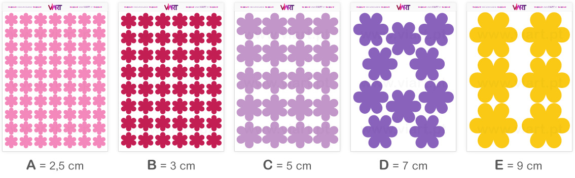 Viart - Wall Stickers - Flowers - Wall Decal Set! Sizes