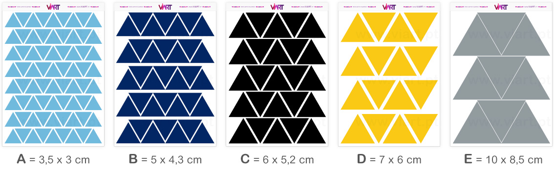 Viart - Wall Stickers - TRIANGLES! - Wall Decal Set! Sizes