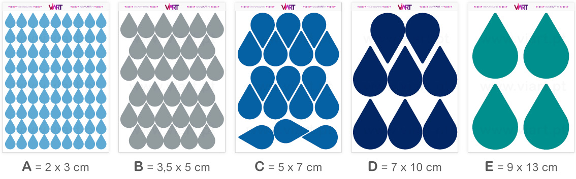 Viart - Wall Stickers - drops - Wall Decal Set! Sizes