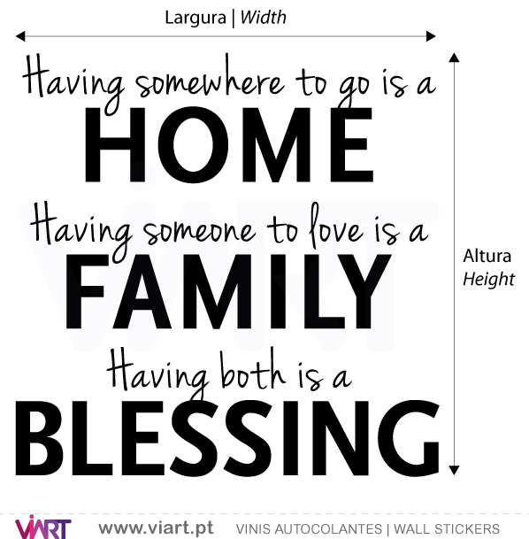 Viart Wall Stickers - HOME - FAMILY - BLESSING - 2 - measures