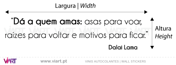 "Viart Wall Stickers - ""Dá a quem amas..."" - measures"
