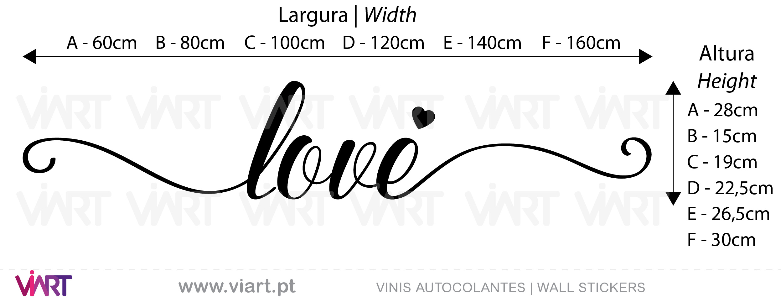 Love, Love! Viart - Wall Stickers - Decals