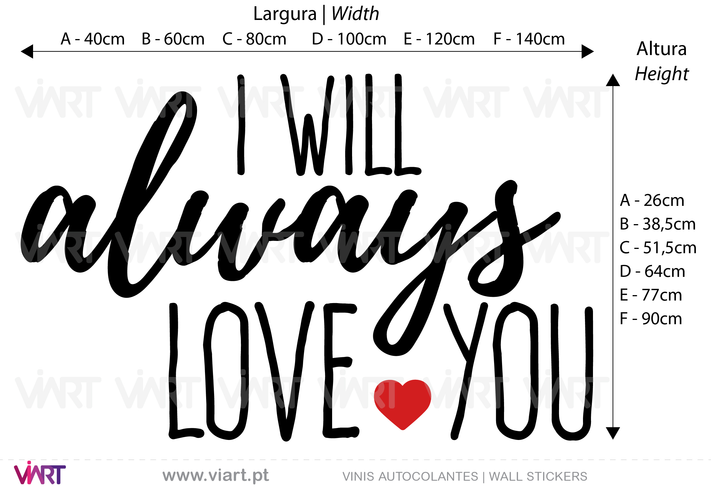 I WILL always LOVE YOU! Wall Stickers - Decals