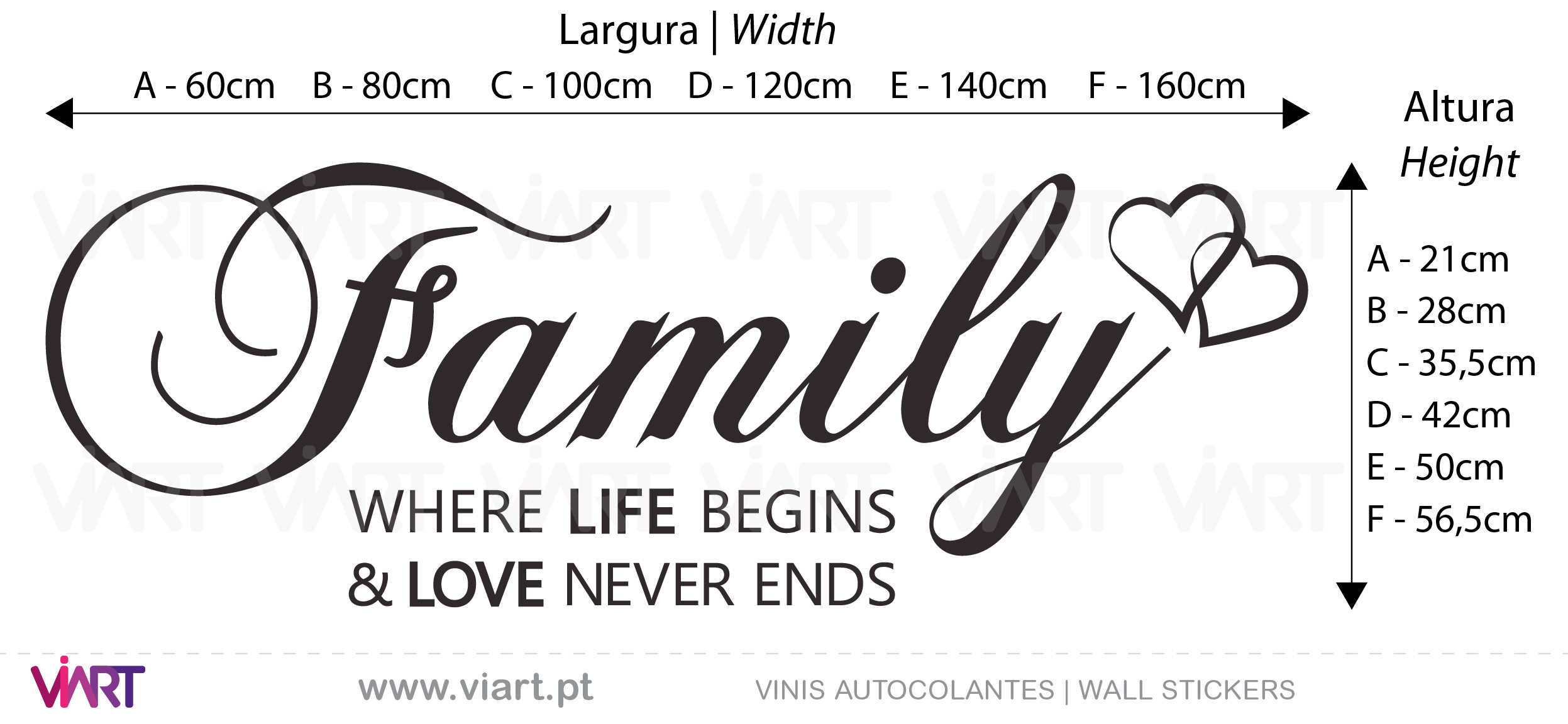 Family! Where life begins... Wall Stickers - Decals