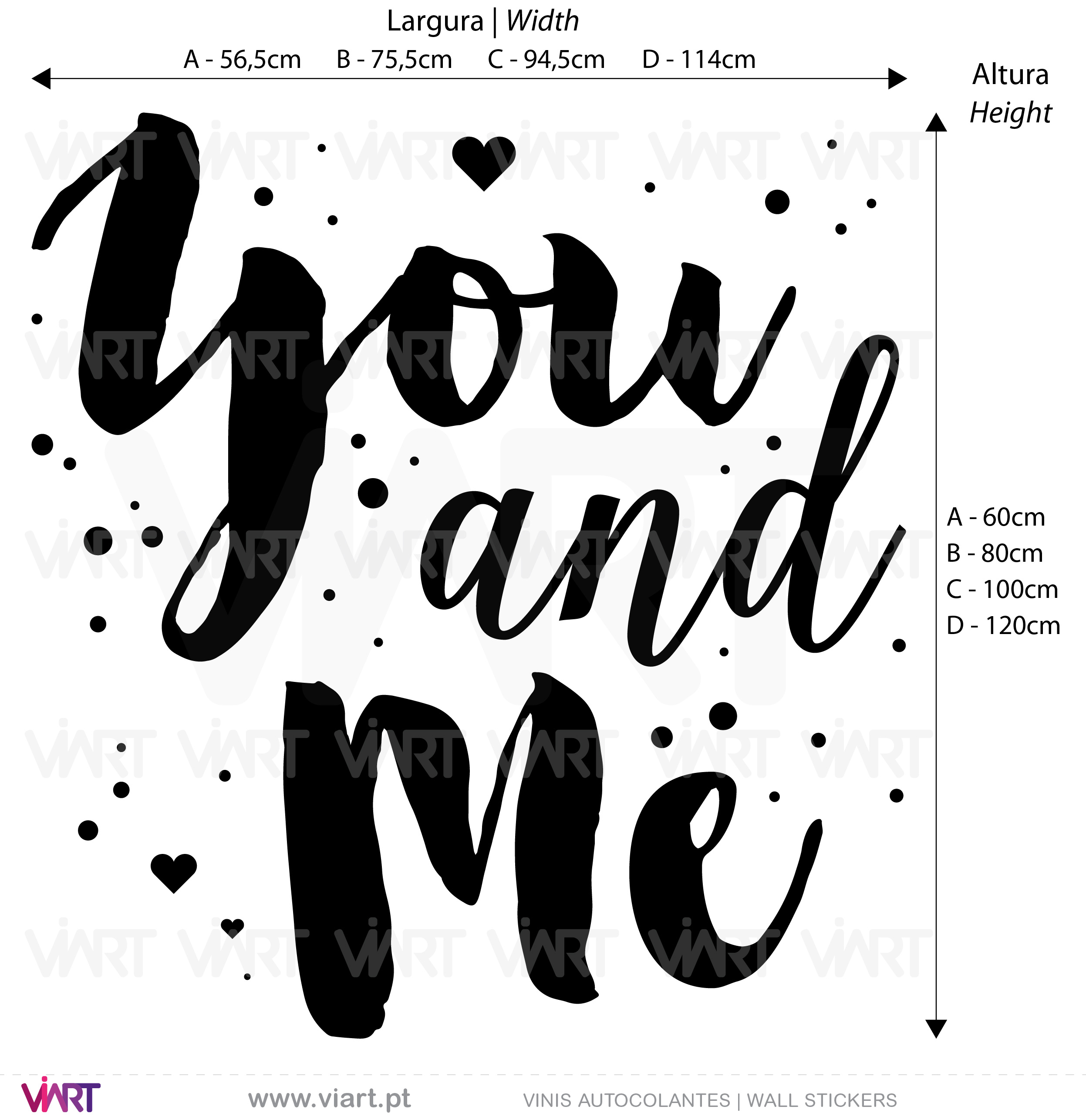 You and Me! Wall Stickers - Decals