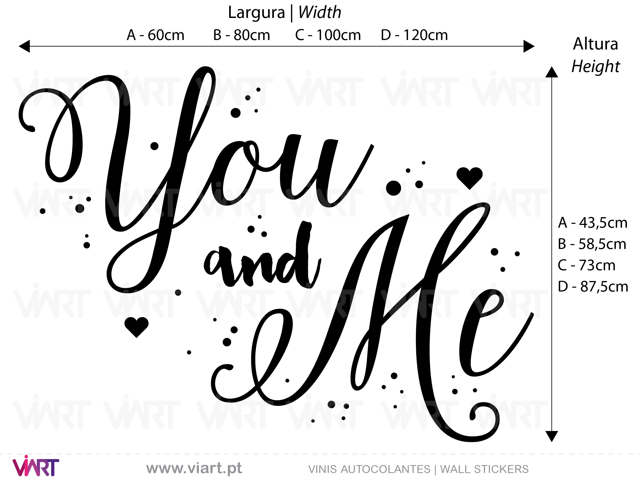 You and Me! 2 Wall Stickers - Decals