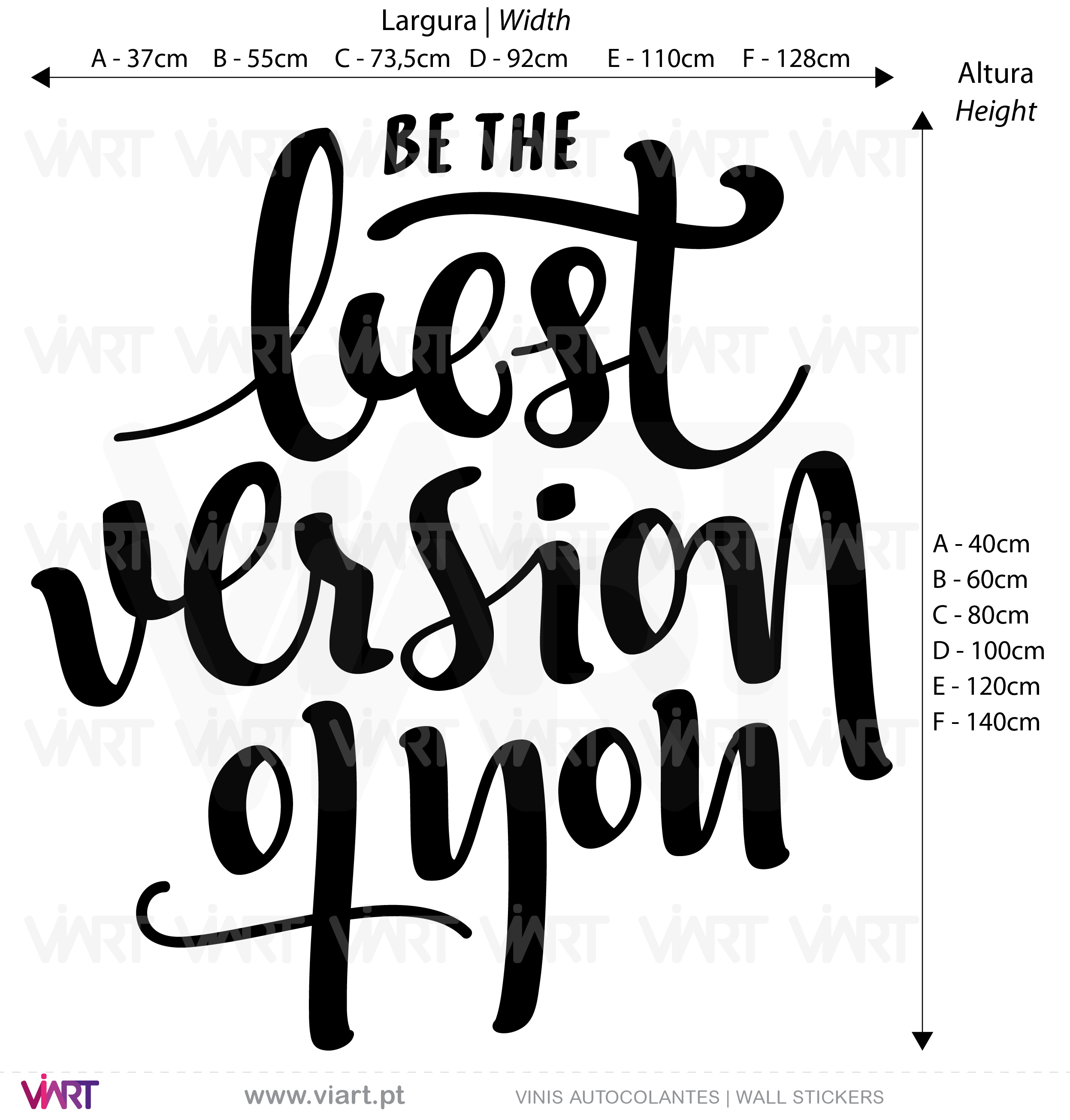 Be the best version of you - Wall Stickers - Decals