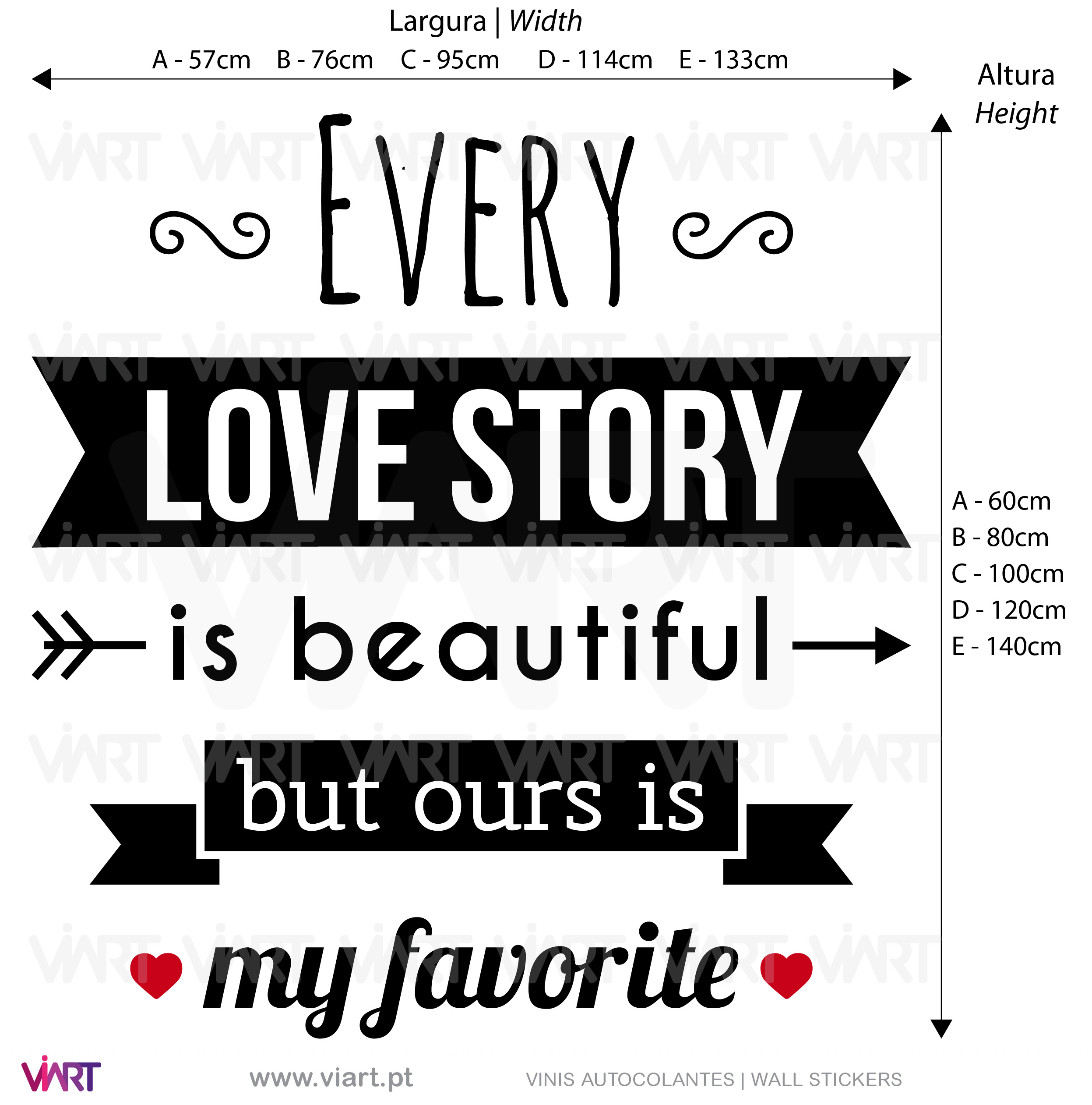 Every Love Story... Wall Stickers - Decals
