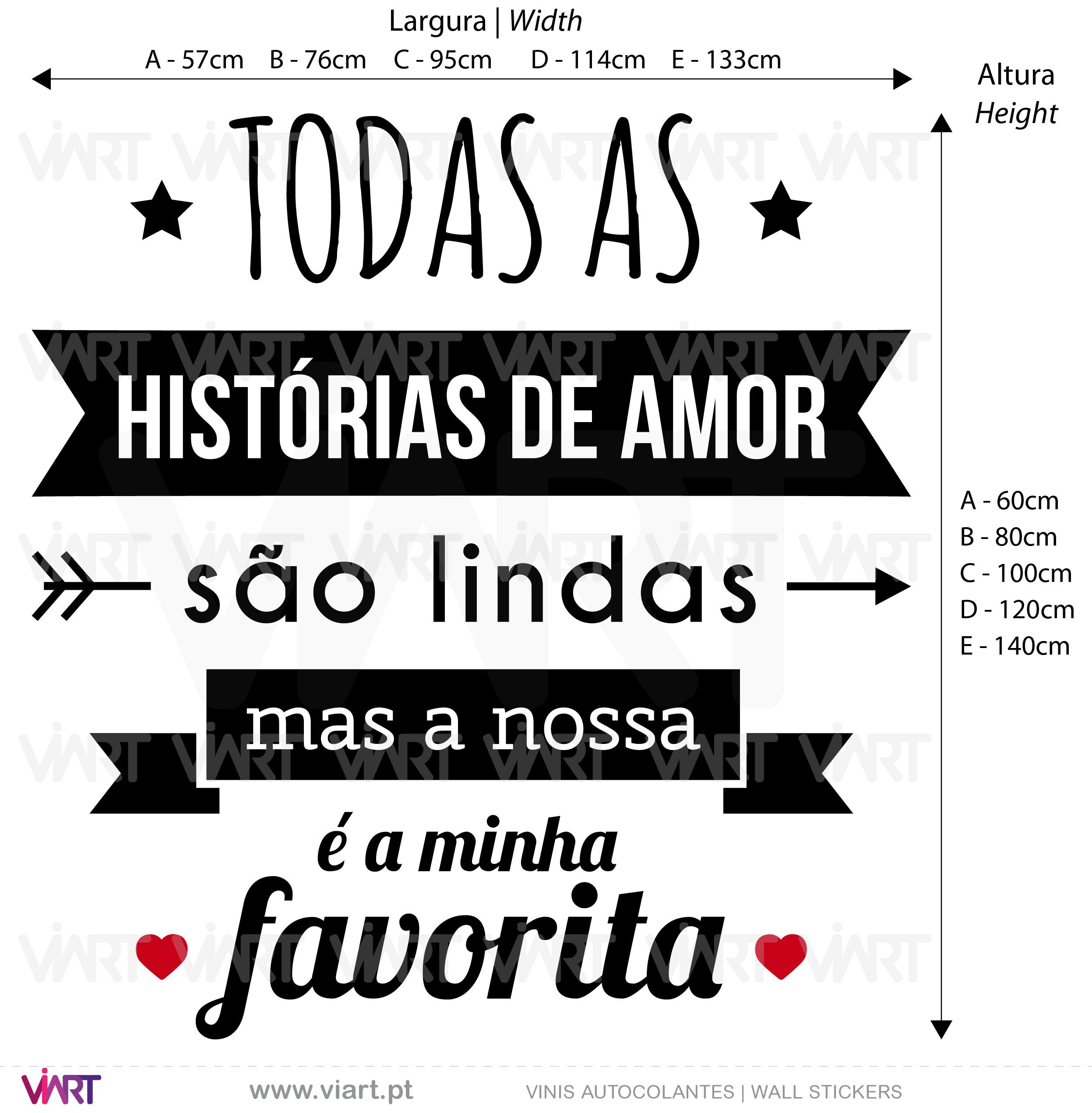 Todas as histórias de amor são lindas... Wall Stickers - Decals