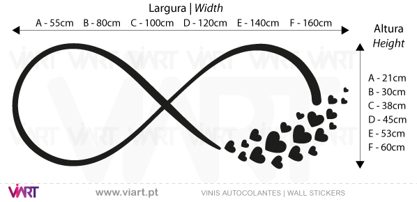 Infinity... with birds, butterflies and hearts. Wall Stickers - Decals