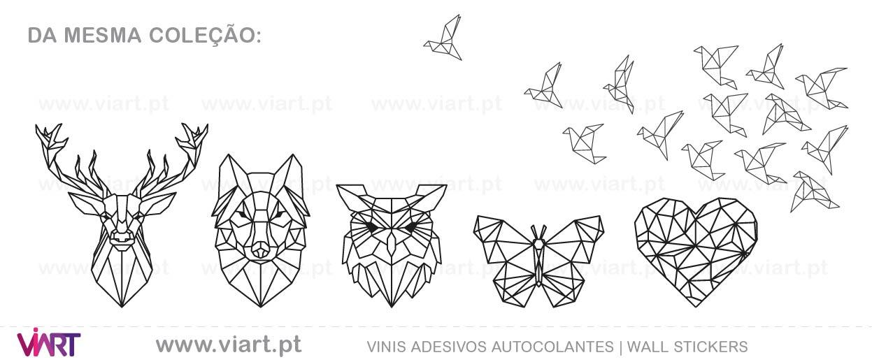 Viart - Vinis autocolantes decorativos - Origami! Desenho geométrico.