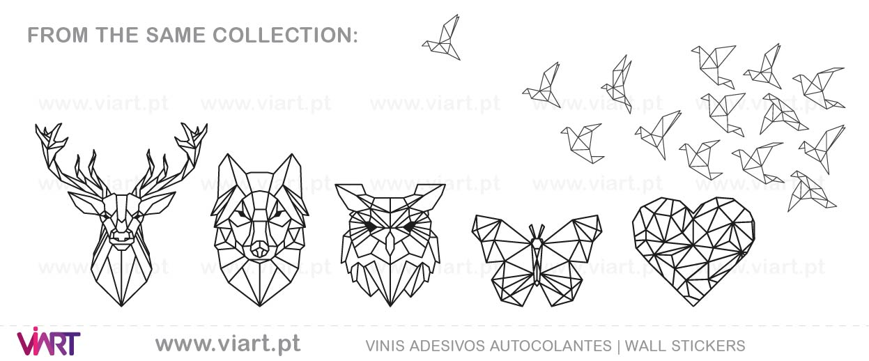 Viart - Wall Stickers - Geometric Decal - Origami!