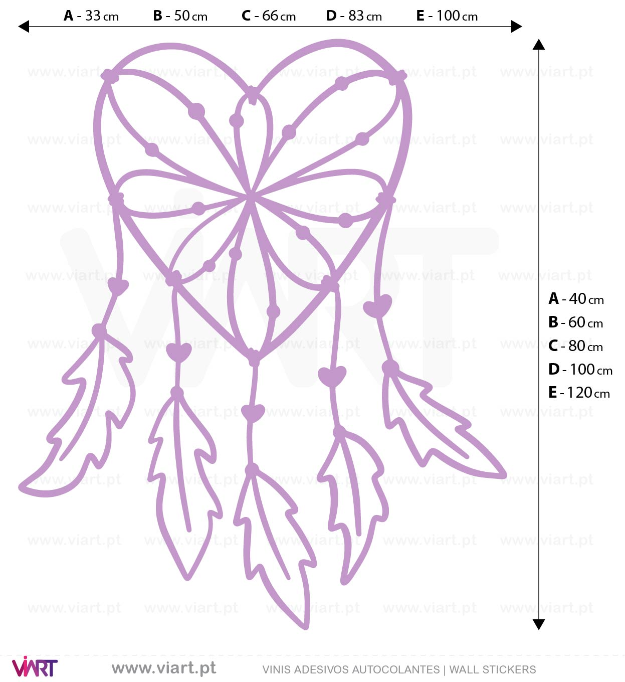 Viart - WALL STICKERS - Dreamcatcher! Decal! Measures