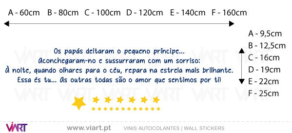 Viart Wall Stickers - Os papás e o pequeno príncipe! - measures