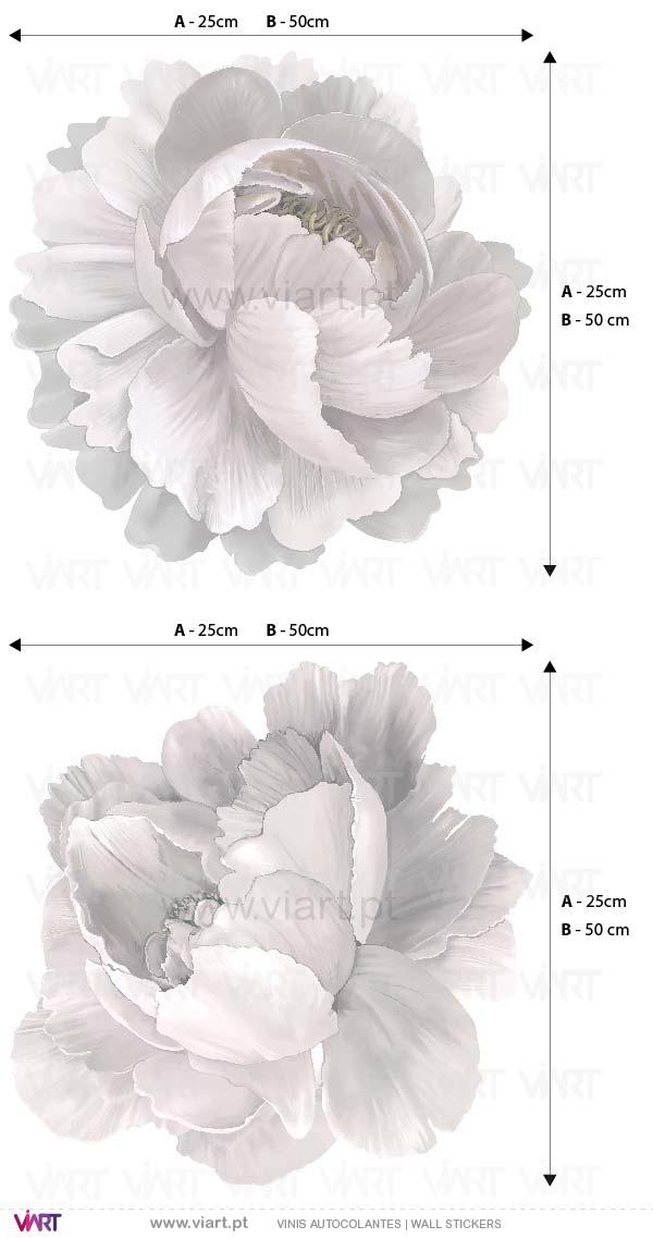 Viart - Vinis autocolantes decorativos - Encantador ramo de flores com nome! Tipos de letra